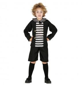 Disfarce Halloween Pugsley Addams para meninos para uma festa do terror