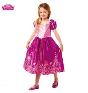 Disfarce rapunzel menina para que eles sejam com quem sempre sonharam