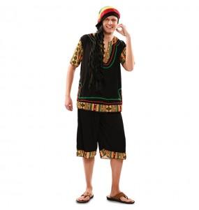 Disfarce Rastafari adulto divertidíssimo para qualquer ocasião