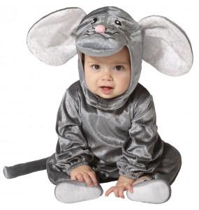 Fato de Rato cinzento para bebé