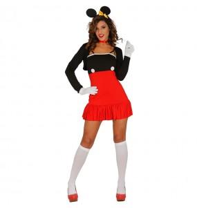 Disfarce original Ratinha vermelha Minnie mulher ao melhor preço