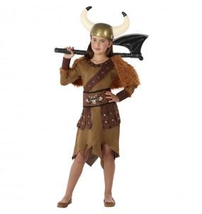 Disfarce Rainha Viking menina para que eles sejam com quem sempre sonharam