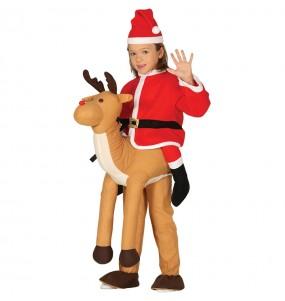 Disfarce Ride On Pai Natal em rena meninos para deixar voar a sua imaginação