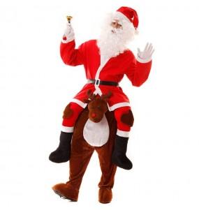 Disfarce Ride On Pai Natal em rena adulto divertidíssimo para qualquer ocasião