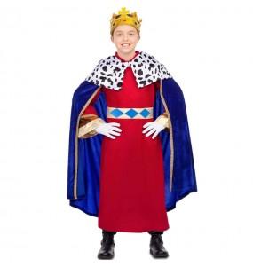 Fato de Rei Mago capa azul para menino