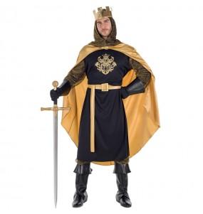 Disfarce Rei Medieval Dourado adulto divertidíssimo para qualquer ocasião