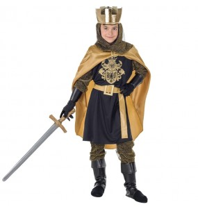 Disfarce Rei Medieval Dourado menino para deixar voar a sua imaginação