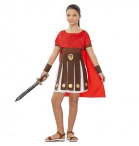 Disfarce Romana Espartana menina para que eles sejam com quem sempre sonharam