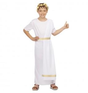 Disfarce Romano branco menino para deixar voar a sua imaginação