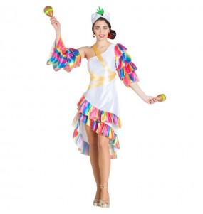 Disfarce original Bailarina Rumba Branca mulher ao melhor preço