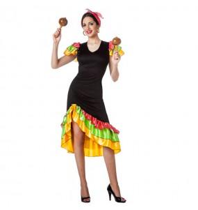 Disfarce original Bailarina Rumba Caraíbas mulher ao melhor preço