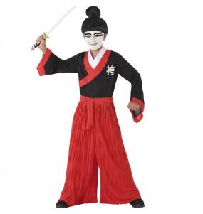 Disfarce Samurai Japonês menino para deixar voar a sua imaginação