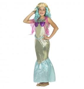 Fato de Sereia do mar para menina