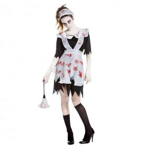 Fato de Empregada zombie para mulher