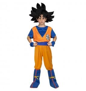 Disfarce Son Goku Dragon Ball menino para deixar voar a sua imaginação