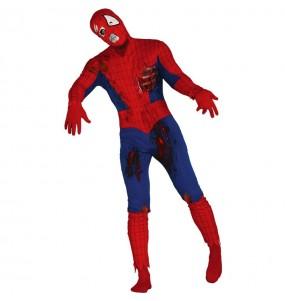 Fato de Spiderman zombie adulto para a noite de Halloween