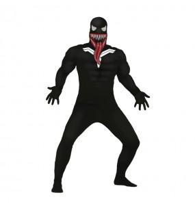 Fato de Venom adulto para a noite de Halloween