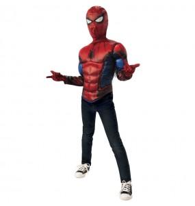 Fato de Spiderman peito muscular para menino