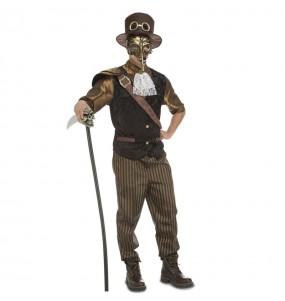 Fato de Steampunk adulto para a noite de Halloween