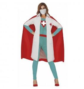 Fato de Super Médica para mulher