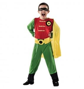 Disfarce Robin menino para deixar voar a sua imaginação
