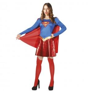 Fato de Supergirl Classic para mulher