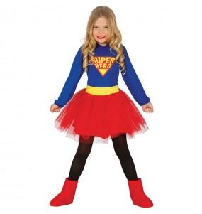 Disfarce Supergirl menina para que eles sejam com quem sempre sonharam