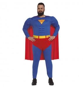 Disfarce Super Herói Superman adulto divertidíssimo para qualquer ocasião