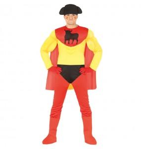 Disfarce Super-herói Espanhol adulto divertidíssimo para qualquer ocasião