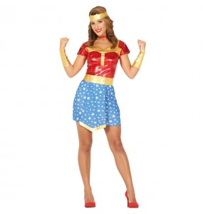 Disfarce original super heroína Mulher Maravilha mulher ao melhor preço
