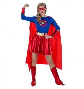 Disfarce original Heroína Supergirl mulher ao melhor preço