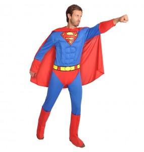 Fato de Superman musculoso Classic para homem