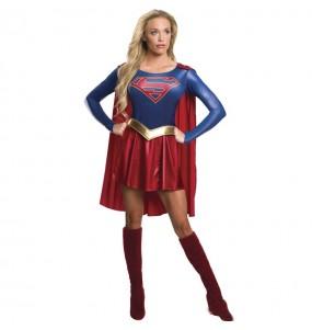 Disfarce original Supergirl Deluxe mulher ao melhor preço