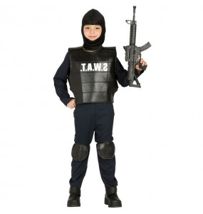 Disfarce Swat menino para deixar voar a sua imaginação