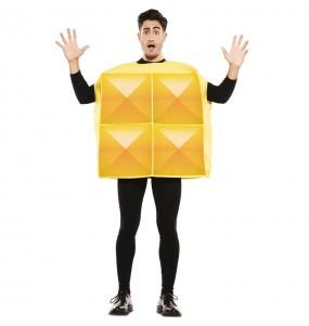 Disfarce Tetris amarelo adulto divertidíssimo para qualquer ocasião