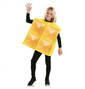 Disfarce Tetris amarelo menino para deixar voar a sua imaginação