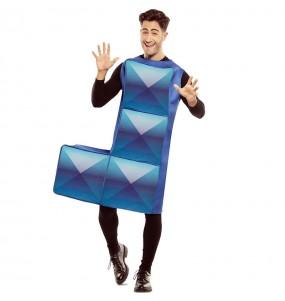 Disfarce Tetris azul escuro adulto divertidíssimo para qualquer ocasião