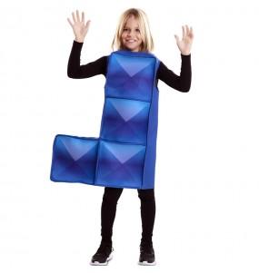 Disfarce Tetris azul escuro menino para deixar voar a sua imaginação