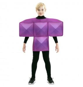 Disfarce Tetris roxa menino para deixar voar a sua imaginação