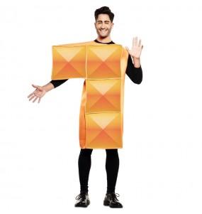 Disfarce Tetris laranja adulto divertidíssimo para qualquer ocasião