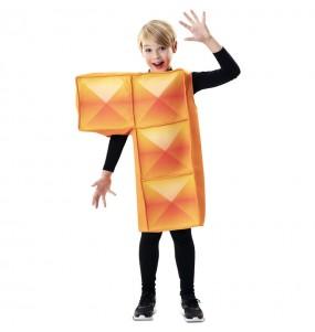 Disfarce Tetris laranja menino para deixar voar a sua imaginação