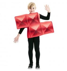 Disfarce Tetris vermelho menino para deixar voar a sua imaginação