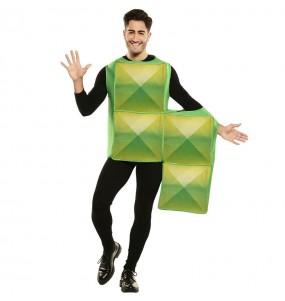Disfarce Tetris verde adulto divertidíssimo para qualquer ocasião