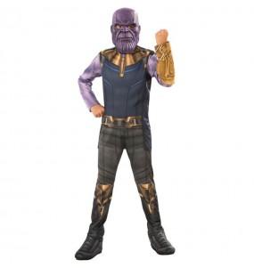 Disfarce Thanos Infinity War menino para deixar voar a sua imagina??o