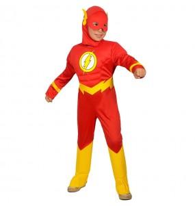 Fato de The Flash musculoso para menino