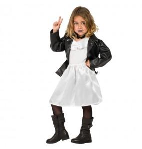 Disfarce Halloween Tiffany Noiva de Chucky meninas para uma festa Halloween