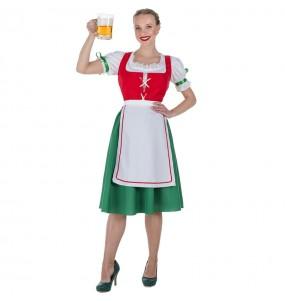 Fato de tirolesa alemã para mulher