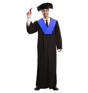 Fato de bata de graduação para homem