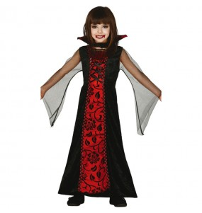 Disfarce Halloween condessa da Transilvânia meninas para uma festa Halloween