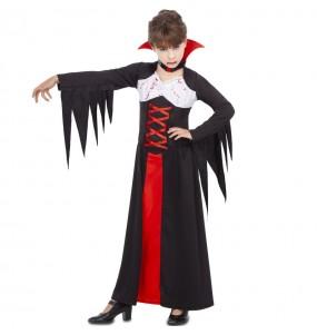 Disfarce Halloween Vampiresa sangrenta meninas para uma festa Halloween